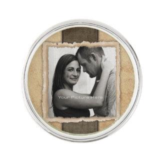 Engagement Photo Rustic Vintage Wedding Lapel Pin