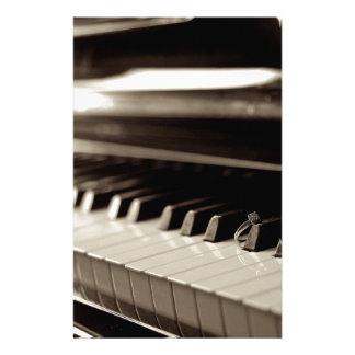 Engagement Piano Keys Stationery