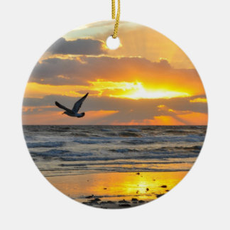 Engagement Proposal Sunrise on the Beach Ornament