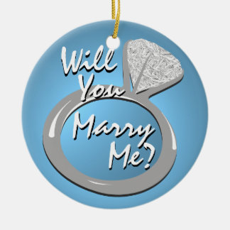 """Engagement Ring """"Marry Me"""" Christmas Ornament"""