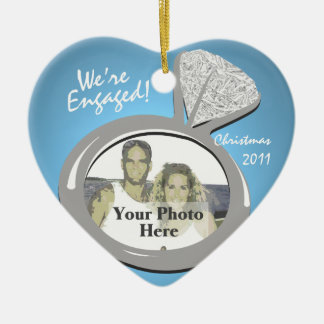 Engagement Ring Photo Christmas Ornament