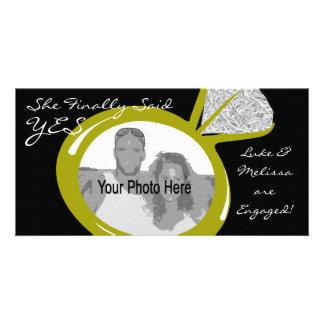 Engagement Ring Photo Customised Photo Card