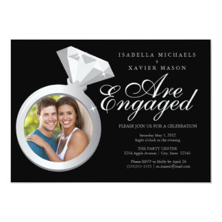 Engagement Ring | Photo Edition 13 Cm X 18 Cm Invitation Card
