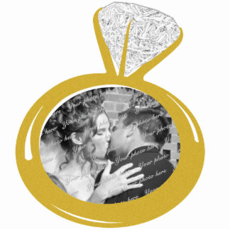 Engagement Ring Photo ornament Cut Out