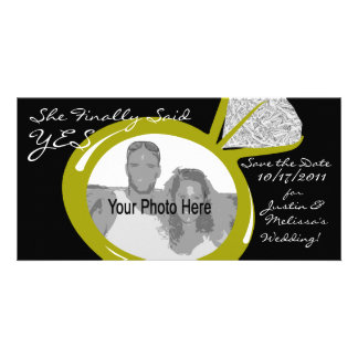 Engagement Ring Photo Photo Greeting Card