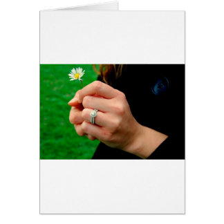 Engagement ring with Daisy Greeting Card