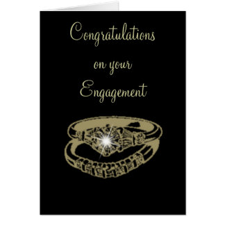 Engagement Rings Customisable Digital Art Gifts Greeting Card