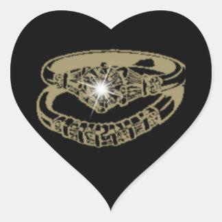 Engagement Rings Customisable Digital Art Gifts Heart Sticker