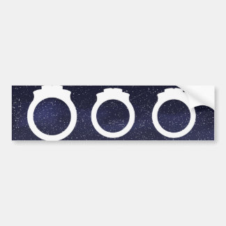 Engagement Rings Icon Bumper Sticker