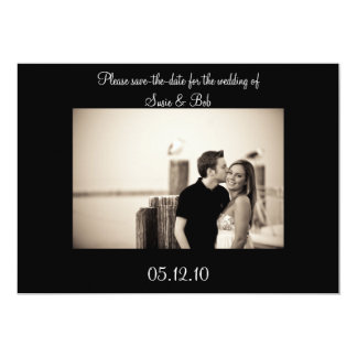 engagement, save-the-date 13 cm x 18 cm invitation card