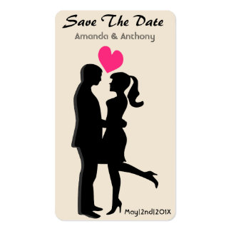Engagement & Save The Date Pack Of Standard Business Cards