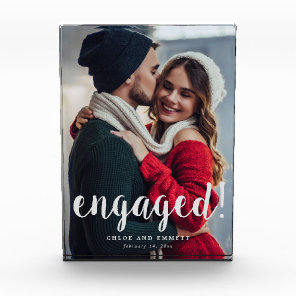 Engagement Script Overlay Photo Block