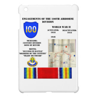 Engagements of the 100th Airborne Division iPad Mini Case