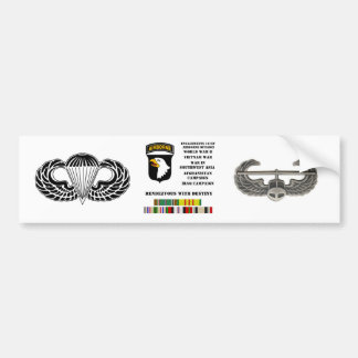 Engagements of the 101st airborne division bumper sticker
