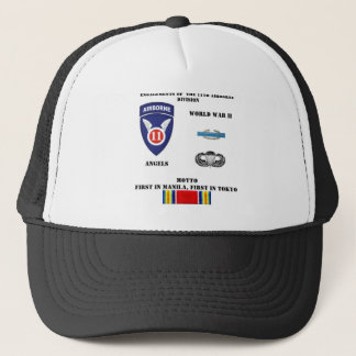 Engagements of  the 11th Airborne Division Trucker Hat