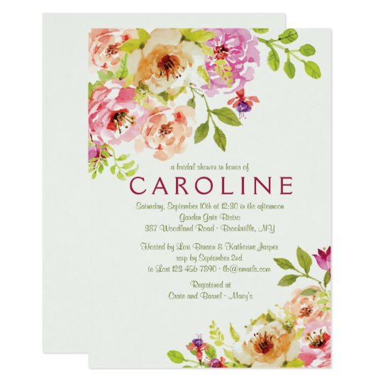 Engaging Floral Invitation