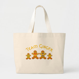Engaging Team Ginger For Lucky Ginger / Redheads Large Tote Bag