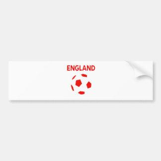 engalnd retro soccer t shirt bumper sticker