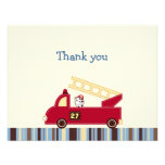 Engine 27 Fire Truck Puppy Thank You Note Cards Invite