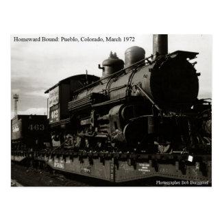 Engine 463 in Pueblo, Colorado Postcard