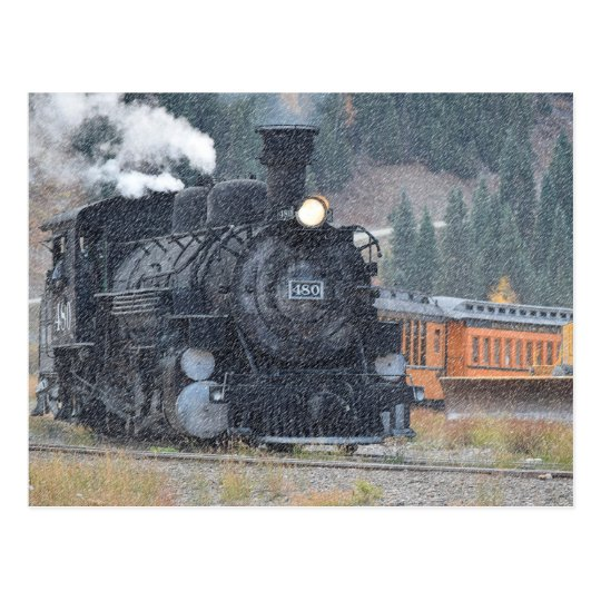 Engine 480 Durango Train Postcard