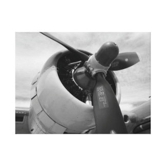 Engine and Prop B-17 Canvas Print