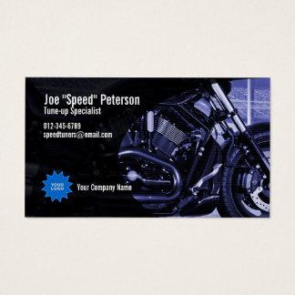 Engine Blue Motorbike Service Business Card