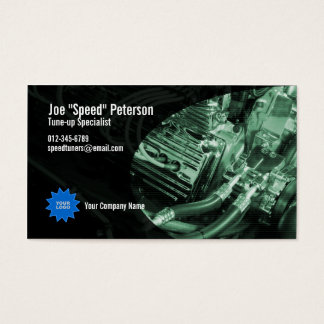Engine Green Car Service Business Card