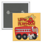 Engine Little Fireman African American Tshirts Buttons