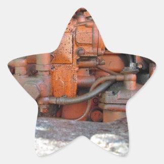 Engine of old italian crawler tractor star sticker