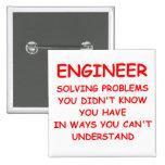 ENGINEER 15 CM SQUARE BADGE