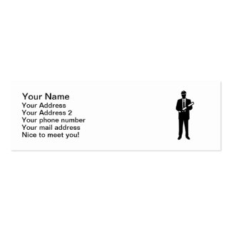 Engineer Architect Double-Sided Mini Business Cards (Pack Of 20)