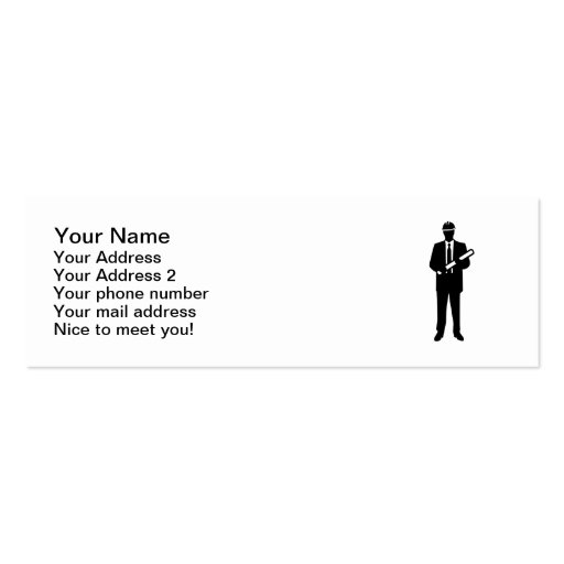 Engineer Architect Business Card