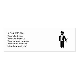 Engineer Architect compass Double-Sided Mini Business Cards (Pack Of 20)