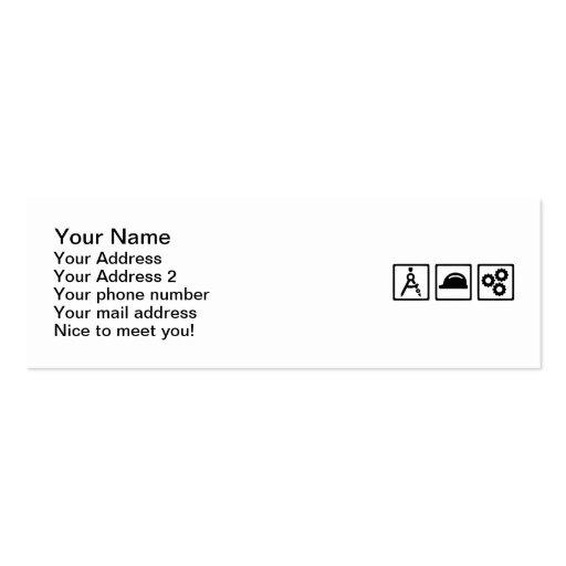 Engineer Architect set Business Card