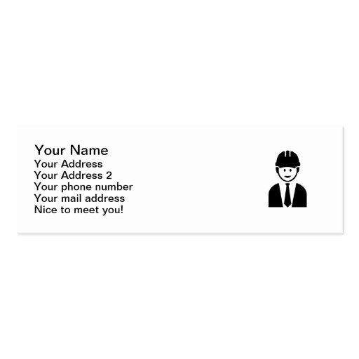 Engineer Architect tie Business Cards