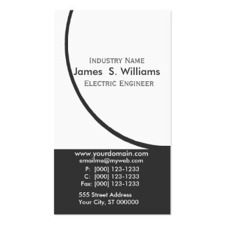 Engineer Black White Original Abstract Modern Pack Of Standard Business Cards