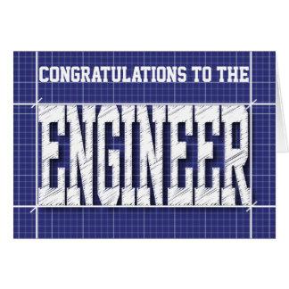Engineer Blue Print Generic Card