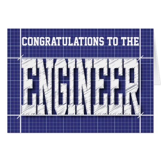 Engineer Blue Print Generic Card