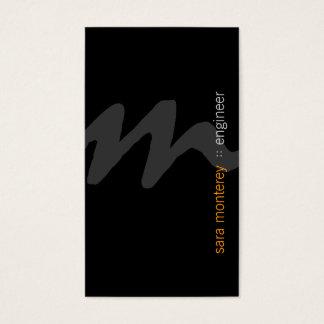 Engineer BoldScript Monogram BusinessCard Business Card