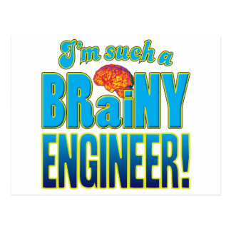 Engineer Brainy Brain Postcard