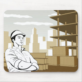 Engineer Builder Architect Mouse Mat