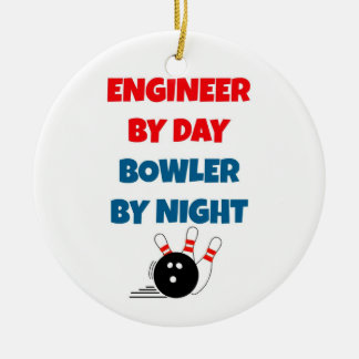 Engineer by Day Bowler by Night Christmas Ornament