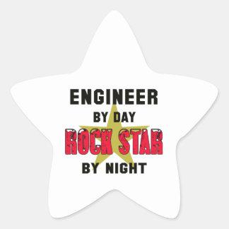 Engineer by Day rockstar by night Star Sticker