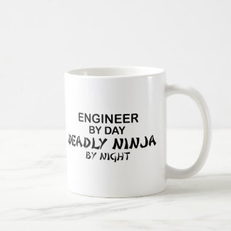 Engineer Deadly Ninja by Night Basic White Mug