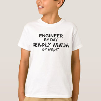 Engineer Deadly Ninja by Night T-Shirt