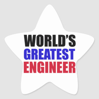 engineer designs star sticker