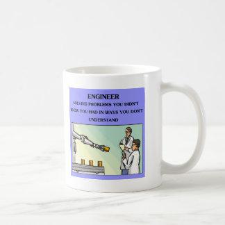 engineer engineering joke basic white mug