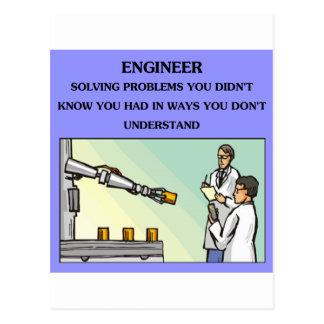engineer engineering joke postcards
