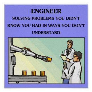 engineer engineering joke poster